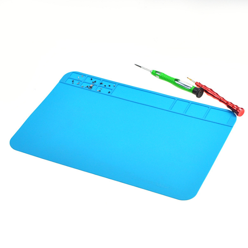 1PC 300*200mm Insulation Pad Heat-Resistant Silicon Soldering Mat Work Pad Desk Platform Solder Rework Repair Tool Station Pad