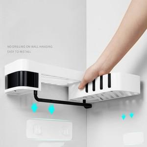 Image 3 - Ventouse en plastique, support de rangement pour salle de bain et cuisine, organisateur étagère de douche, étagère de douche
