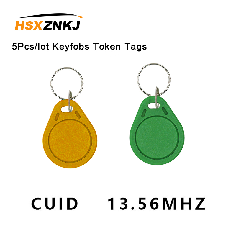 5Pcs/lot Keyfobs Token Tags S50 13.5MHZ CUID Changeable MF S50 1K IC Keys NFC Clone Copy  Block 0 Writable14443A