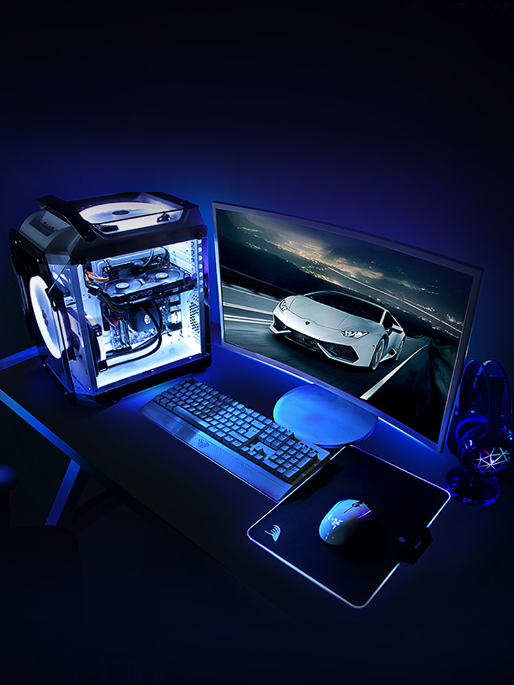 M-ATX Micro-ATX Desktop Gaming Cases Support ITX Motherboard Tempered Glass Transparent Computer Cases With 120mm Water Cooling 2