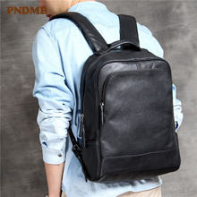 Повседневный высококачественный рюкзак из натуральной кожи для