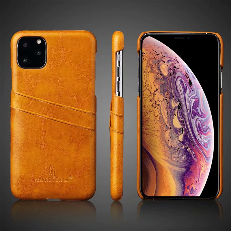 Slim Hard Leather Card Holder Case for iPhone 11/11 Pro/11 Pro Max 11