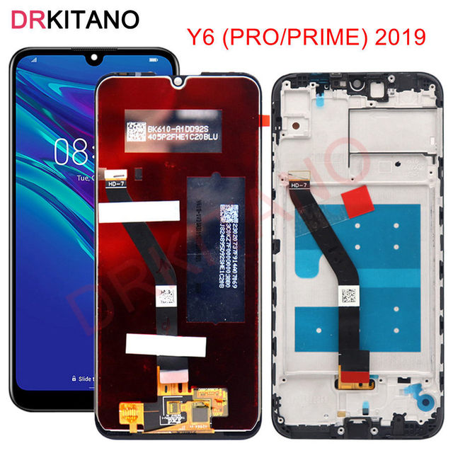 For Huawei Y6 2019 LCD Display Touch Screen For Huawei Y6 Prime 2019 LCD Y6 Pro 2019 Display MRD LX1f Screen With Frame Replace