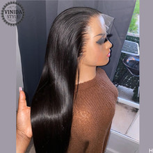 VINIDA STYLE Natural Color Straight Lace Front Human Hair Wigs 150% Density Pre-Plucked With Baby Hair Non-Remy