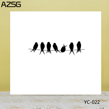 AZSG Swallow Clear Stamps/Seals For DIY Scrapbooking/Card Making/Album Decorative Silicone Stamp Crafts