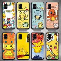 Diseño de dibujos animados Pokemon-Pokemon pika Pikachus caso de teléfono para Samsung Galaxy A52 A21S A02S A12 A31 A81 A10 A30 A40 A50 A70 A80 A71 A51 5G