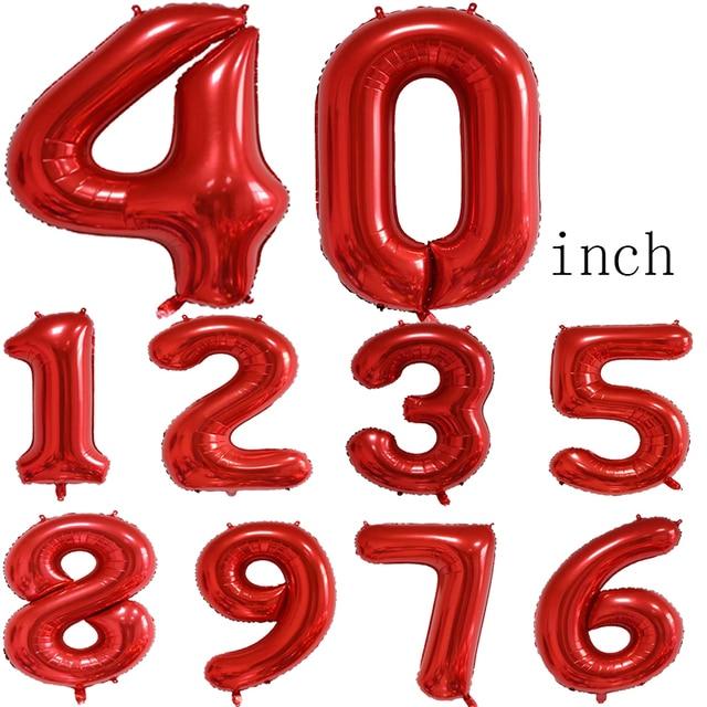 1 Set McQueen Car Disney Children's Birthday Party Decoration Home Decor Foil Balloons Kids Toys 40inch Black Number Air Globos 2