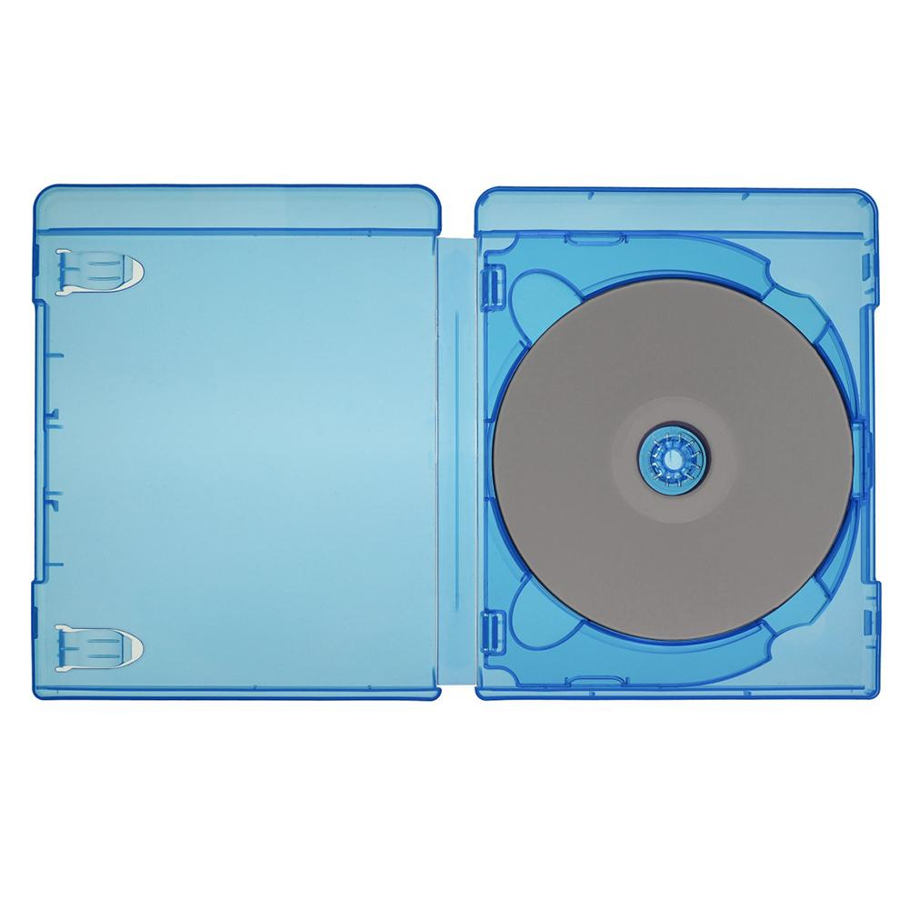 Replacement-Cases Movies-Holder Square Blu-Ray Blue Slimline Single for DVD -Bw Thin title=