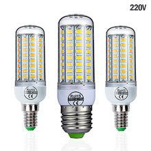 Goodland e27 conduziu a lâmpada 220 v lâmpada led smd 5730 e14 conduziu a luz 24 36 48 56 69 72 leds lâmpadas de milho lustre para iluminação doméstica
