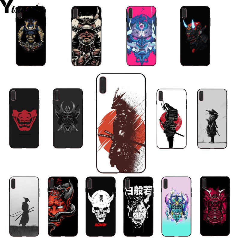Samurai Japonês Yinuoda oni máscara DIY Luxo High-end Caso Protetor para Apple iPhone 8 7 6 6S mais X XS MAX 5 5S SE XR Tampa