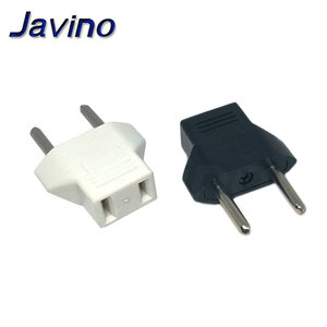 Universal US To EU Plug USA To Euro Europe Travel Wall AC Power Charger Outlet Adapter Converter 2 Round Socket Input Pin