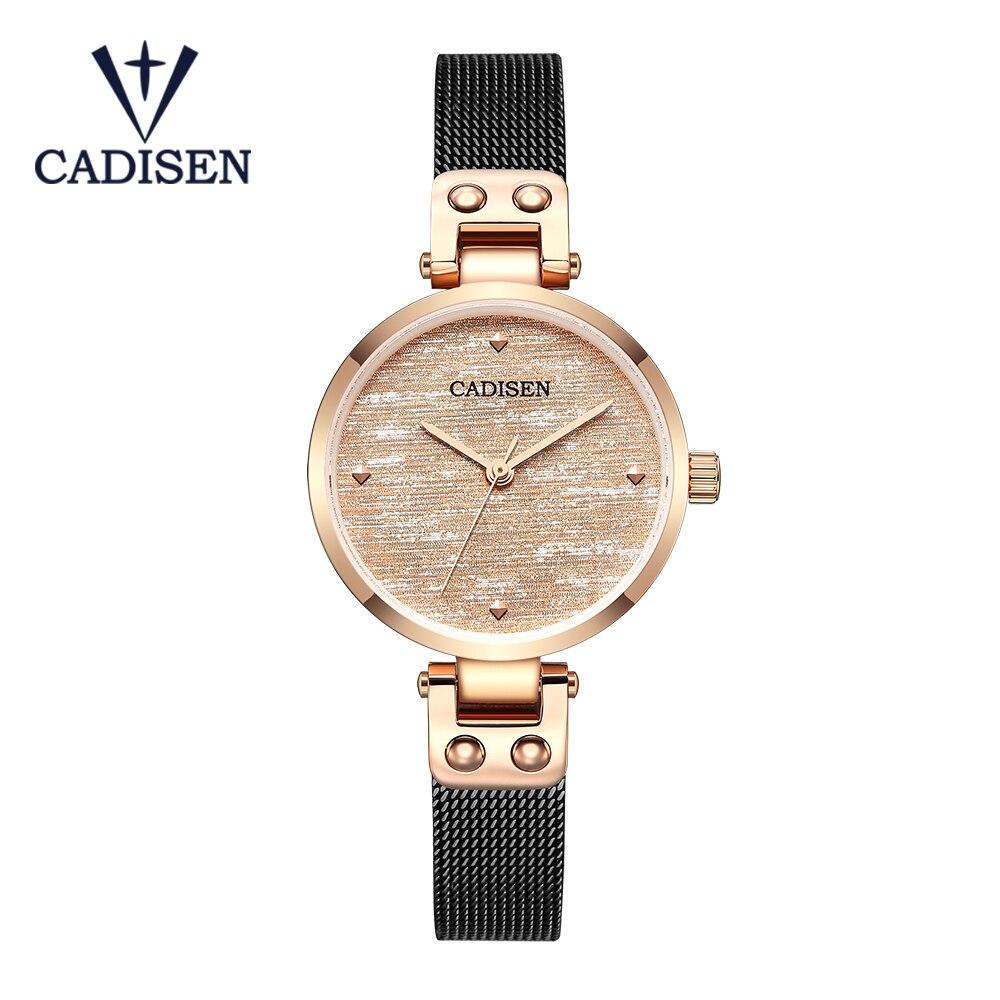 CADISEN 2020 INS Luxury Women's Watch Brand Women's Quartz Watch Fashion Creative Watch Delicate Bracelet Gift Dress Girl