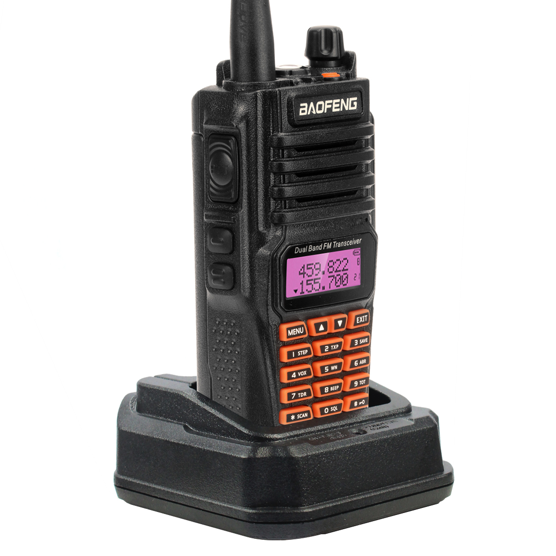 Baofeng UV-9R Waterproof Walkie Talkie IP67 5W Two Way Radio Station UHF VHF Outdoor Dual Band Walkie-talkie image