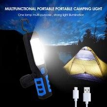 Светодиодный фонарь для кемпинга с магнитной палаткой с usb-зарядкой для наружного аварийного питания 3 режима фонарика