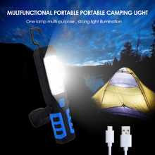 LED Camping Lantern with Magnet Tent Light USB Charging Outdoor Emergency Power Light 3 Modes Flashlight solar led camping light outdoor usb rechargeable flashlight mini lamp with handle tour tent lantern emergency cell phone charger