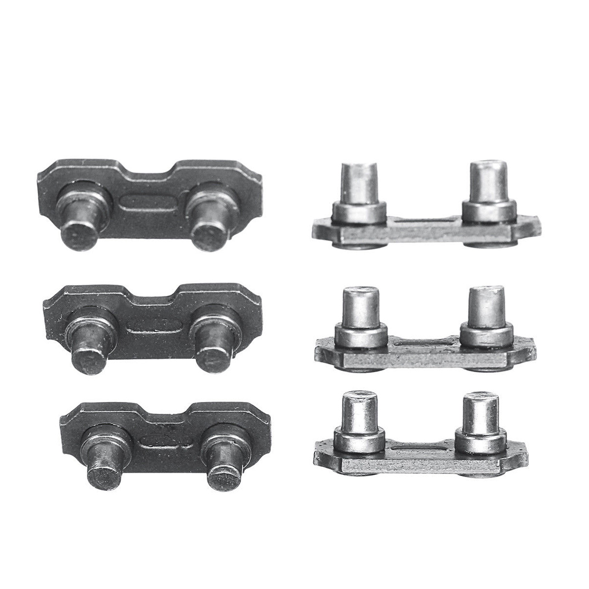 6 PCS 3/8 0.063 Steel Chainsaw Chain Joiner Link For Joining Chains 17.5mm*6.9mm