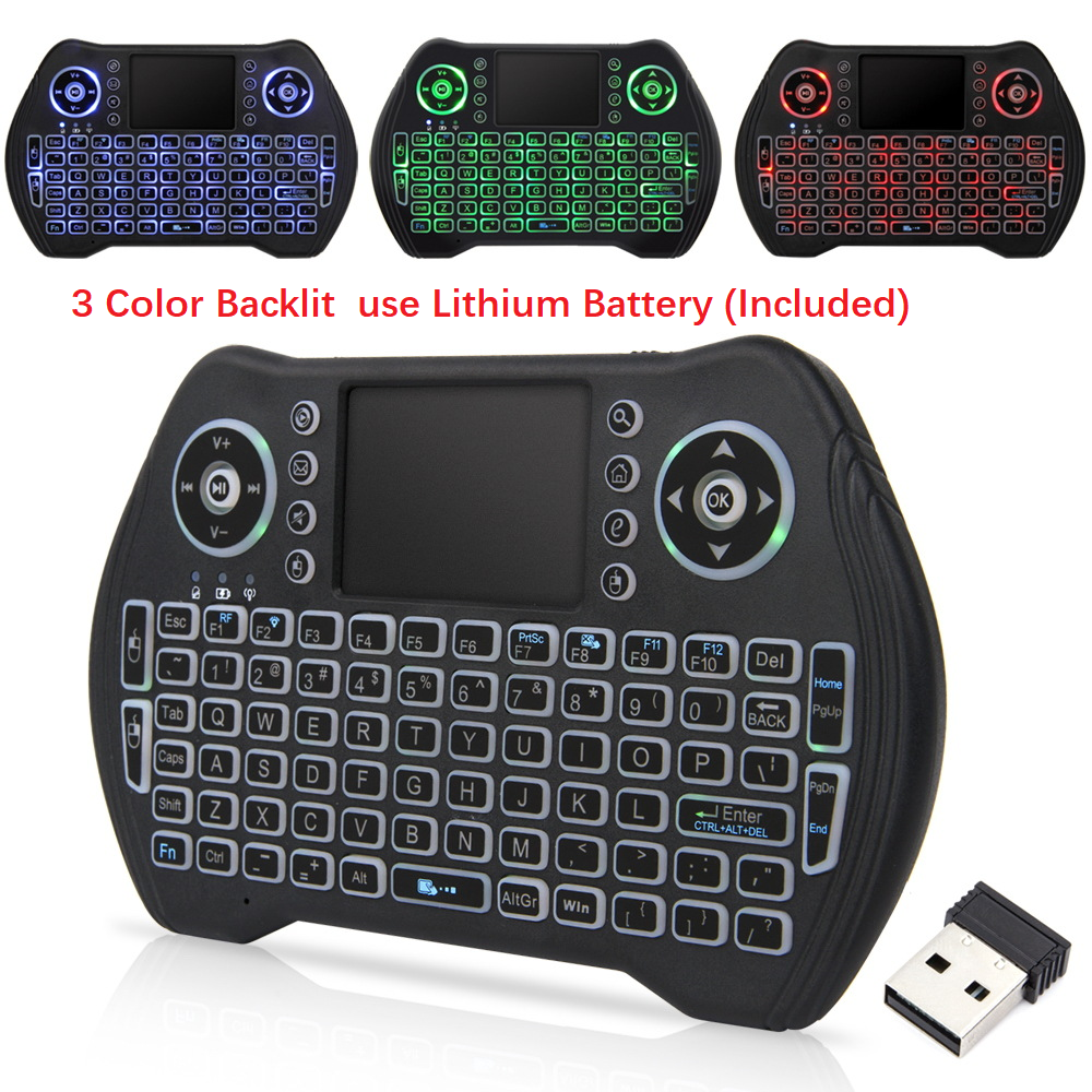 <font><b>Wireless</b></font> <font><b>Keyboard</b></font> <font><b>2.4GHz</b></font> Air Mouse English Russian German French Mini <font><b>Wireless</b></font> <font><b>Keyboard</b></font> Touchpad For Android TV BOX Air Mouse image