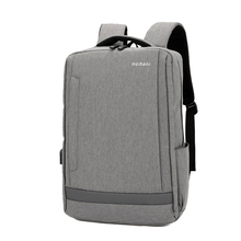 Multifunctional Nylon Travel Backpack Mens Business 15.6-inch USB Charging Laptop Bag Mini