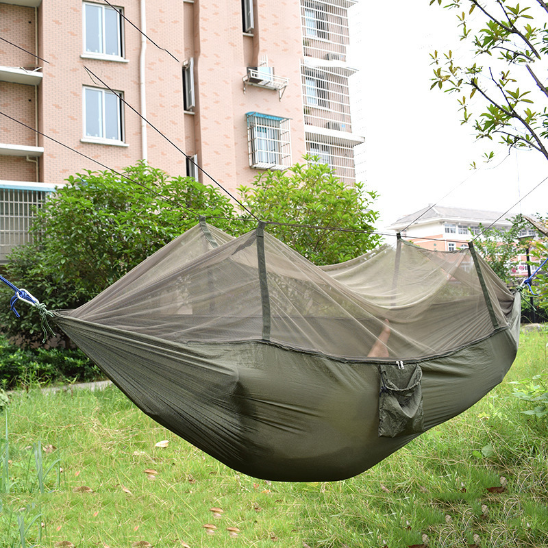 F Nelon Hammock Camping with Mosquito Nets 1-2 Person Outdoor Furniture Portable Hanging Chiar Max 200KG Swing with Rope Hooks