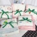 Máquina de cama das crianças gaze lavável acolchoado quatro estações colcha algodão puro padrão dos desenhos animados verão colcha confortável quente