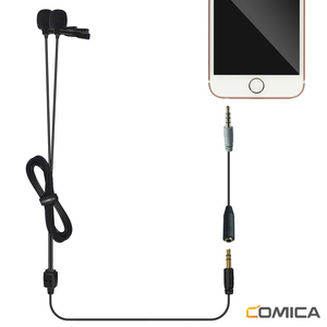 Image 3 - CoMica CVM D02 Microphone 2.5M 4.5m 6.0m Lavalier Condenser Microphone Mic for DSLR Camera Phone Gopro Studio Microphone
