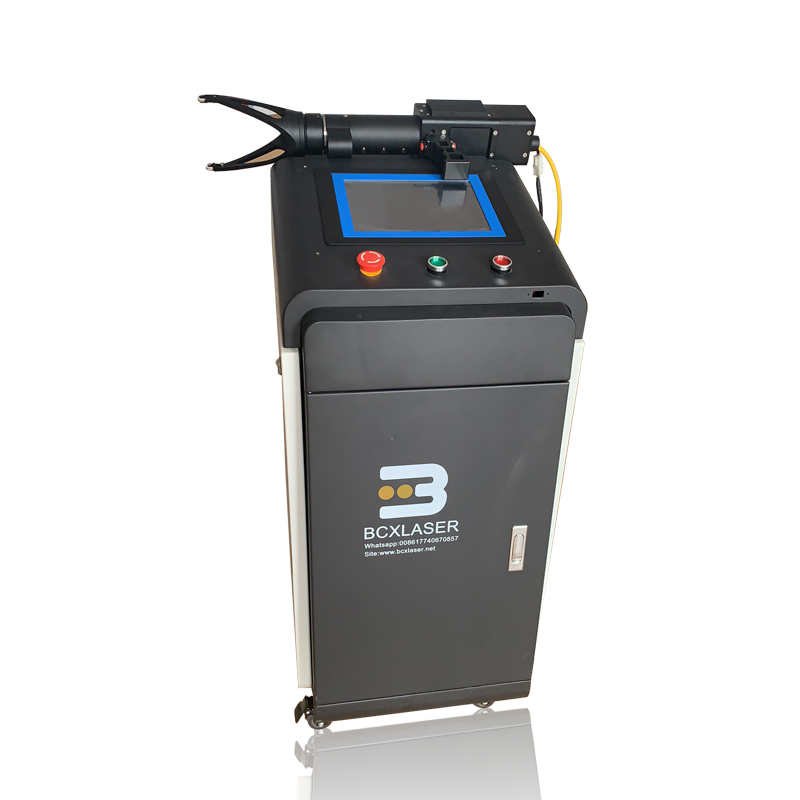 50W <font><b>100W</b></font> Fiber <font><b>laser</b></font> cleaning machine for welding pretreating and paint removal image