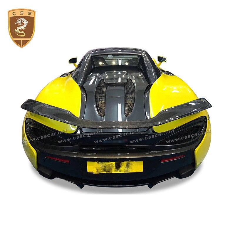 Idéal pour McLaren 540 570s 570 GT novitec Style réel en fiber de carbone aile arrière aileron carbone forgé ailes