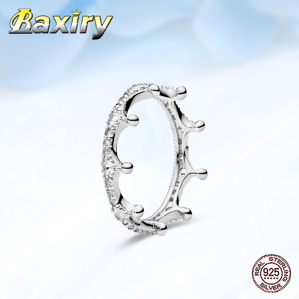 2020 New 925 silver Rings For Women Crown Round Finger Ring Gemston For Women Dating Ring Wedding Rings Jewelry Making