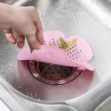 Plug Hair-Catcher Kitchen-Accessories Sink-Drain Shower Bath-Stopper Flower-Shape Silicone