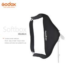 Godox 40*40 Cm Flash Diffuser Photo Studio Softbox Softbox Voor Speedlite Flash Light Zonder S Type beugel Bowens Houder
