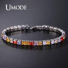 UMODE Silver Bracelet Brand Hot Selling Women Tennis Luxury Round CZ Bracelets & Bangles Gifts for UB0178F