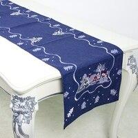 Corredor Toalha De Mesa Bandeira de Mesa lavável Tapete Toalha de mesa de natal Bordado Partido Home Decorativa|Caminhos de mesa| |  -