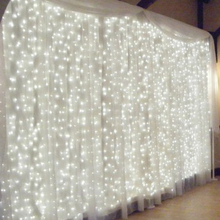 Icicle-String Lights Christmas-Fairy-Lights Garland Outdoor LED Curtain/garden-Decoration