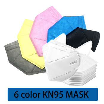 Black Pink KN95 Face Masks FFP2 Dust Respirator KN95 Mouth Mask 5 Layer Protective Mask Breathable 95% Filtration Mascarillas
