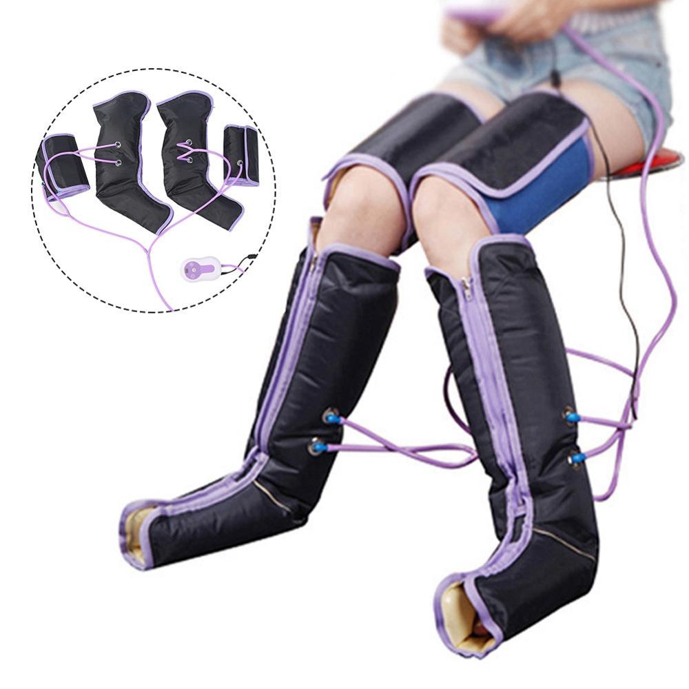 Jambe Air Compression masseur électrique Circulation jambe enveloppé pied cheville mollet thérapie Posture correcteur thérapie orthopédique genou