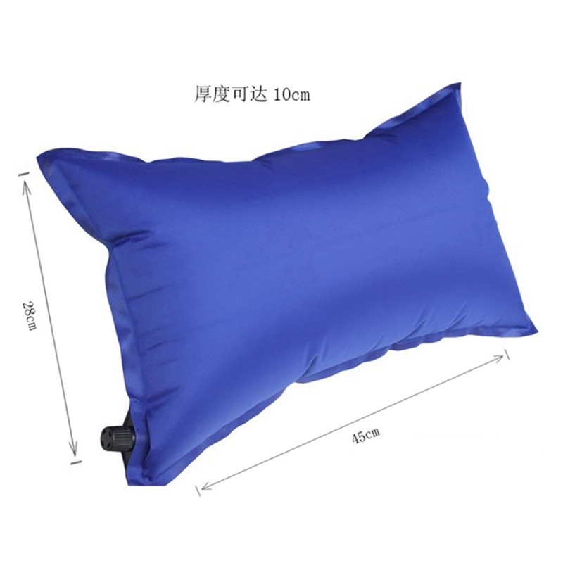 Outdoor Automatic Inflatable Pillow Travel Wild Portable Automatic Inflatable Siesta Camping Sleeping Pillow Random Color