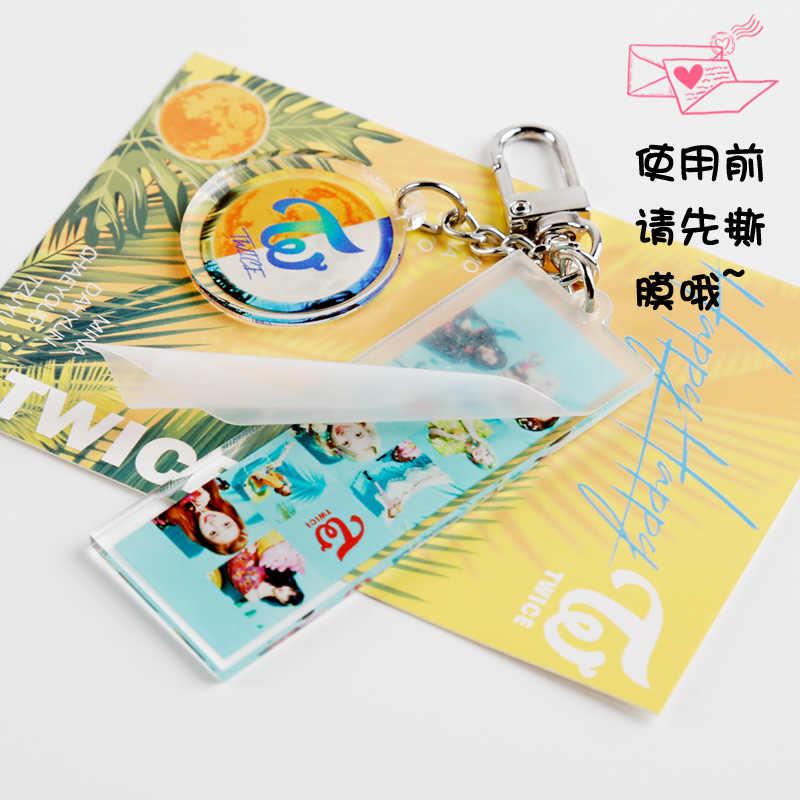 Kpop TWEEMAAL Acryl sleutelhanger hoge kwaliteit foto PVC leuke sleutelhanger Kpop tweemaal sleutelhanger hanger ringen voor fans gift collectie
