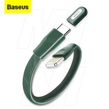 Baseus USB Type C Bracelet câble extérieur Portable USB chargeur rapide données charge rapide 5A type-c câble USB C câbles de cordon métallique