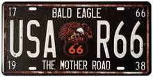 Bald eagle route us 66 usa r66 the mother road металлические