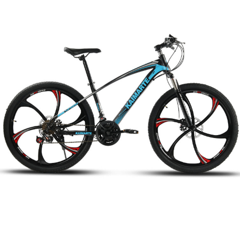26inch mountain bicycle 21speed High carbon steel frame bike double disc brakes bicycle Spoke wheel and 26inch mountain bicycle 21speed High carbon steel frame bike double disc brakes bicycle Spoke wheel and knife wheel bike