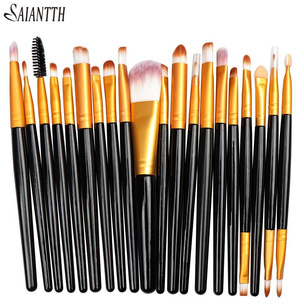 Saiantth 20pcs/set Eyes Makeup Brushes Kit Eyeshadow Eyebrow Concealer Foundation Cosmetic Tool Professional Eye Beauty Eyeliner 1