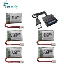 Аккумулятор 3,7 V 220mAh+ зарядное устройство для HS210 H36 E010 NH010 T36 751823 3,7 v lipo аккумулятор для JJRC H36 RC Дрон Квадрокоптер запасные части
