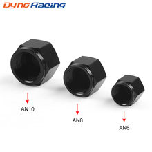 Alumínio an6 an8 an10 adaptador feminino flare fim tampão plug tubo porca 6-um 8-um 10-um encaixe 1 pces bx101894