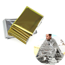 Hypothermia rescue first aid kit camp keep foil mylar lifesave warm heat bushcraft outdoor thermal dry emergent blanket survive cheap CN(Origin)