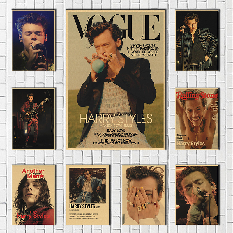 British Singer Harry Style Portrait Paintings Posters Wall Art Prints Picture Modern Home Decor Room Bar Hotel Decoration