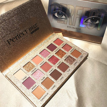 Beauty Glazed 18 Color Glitter Matte Eyeshadow Palette Makeup Pigment Smoky Waterproof Cosmetics