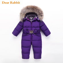 Winter Snowsuit Down-Jacket Girl 2--6-Y-30russian Baby Kids 80%Duck-Down Boy for Jumpsuit/2--6-Y