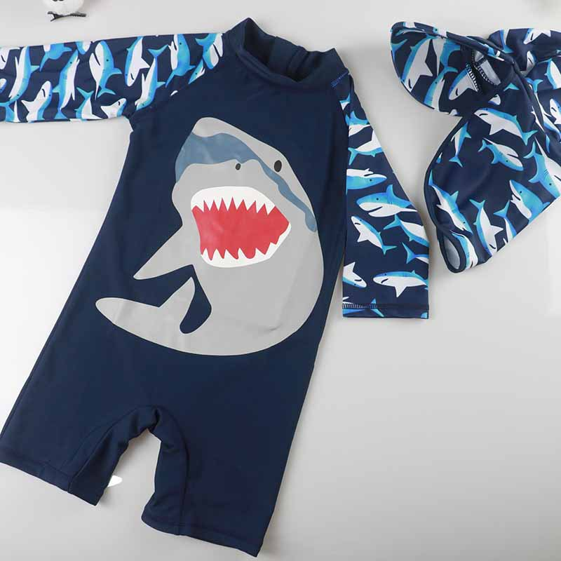 KID'S Swimwear South Korea Baby Students BOY'S One-piece Sun-resistant Quick-Dry Swimwear Baby Boy Warm Hot Springs Clothing