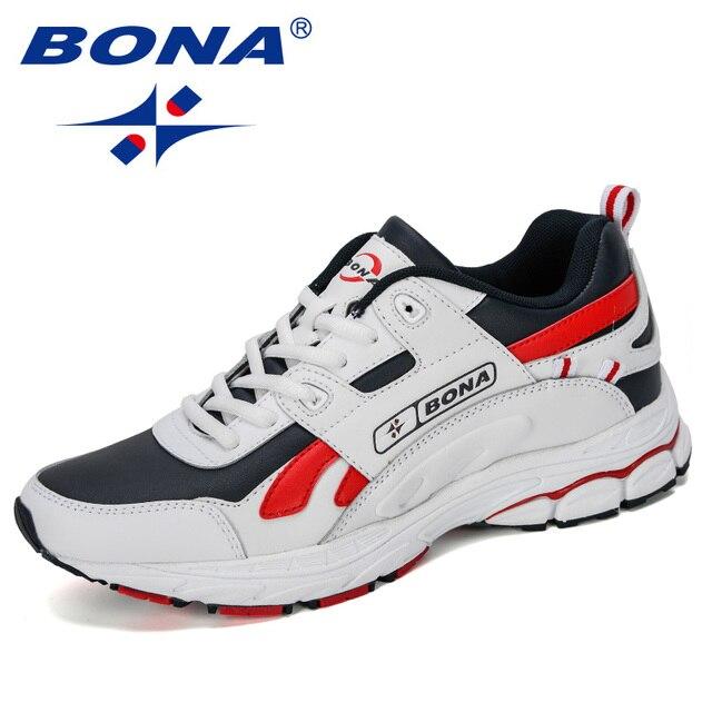 BONA  New Designer Men Cow Split Running Shoes Sports Outdoor Comfortable Man Sneakers Walking Athletic Footwear Trendy Shoe