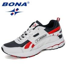 BONA חדש מעצב גברים פרה פיצול ריצה נעלי ספורט חיצוני נוח איש סניקרס הליכה אתלטי הנעלה נעל אופנתית